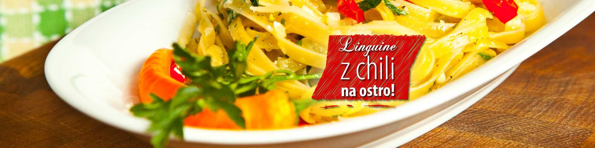 Linguine z chili na ostro