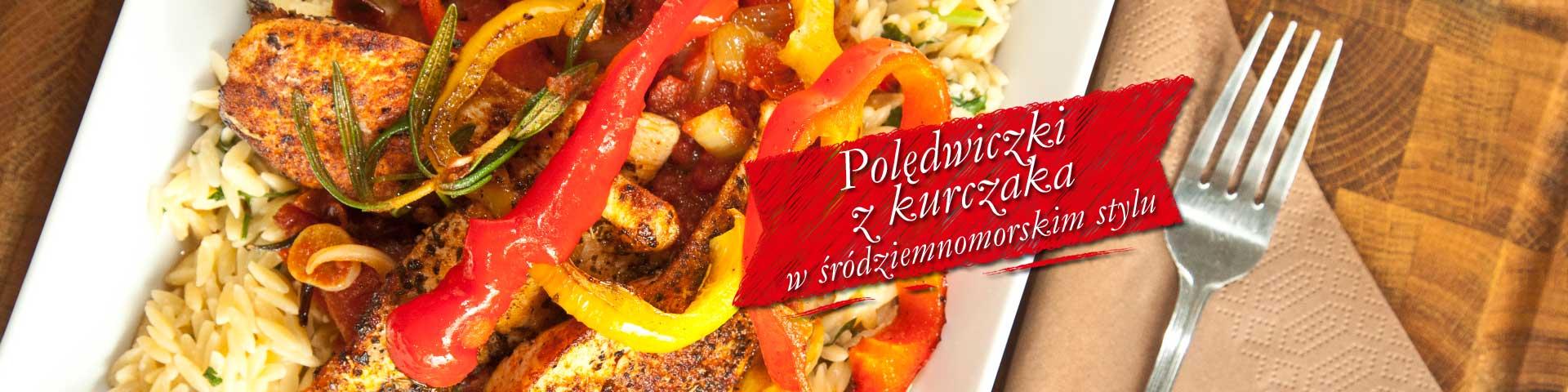 Polędwiczki z kurczaka w śródziemnomorskim stylu