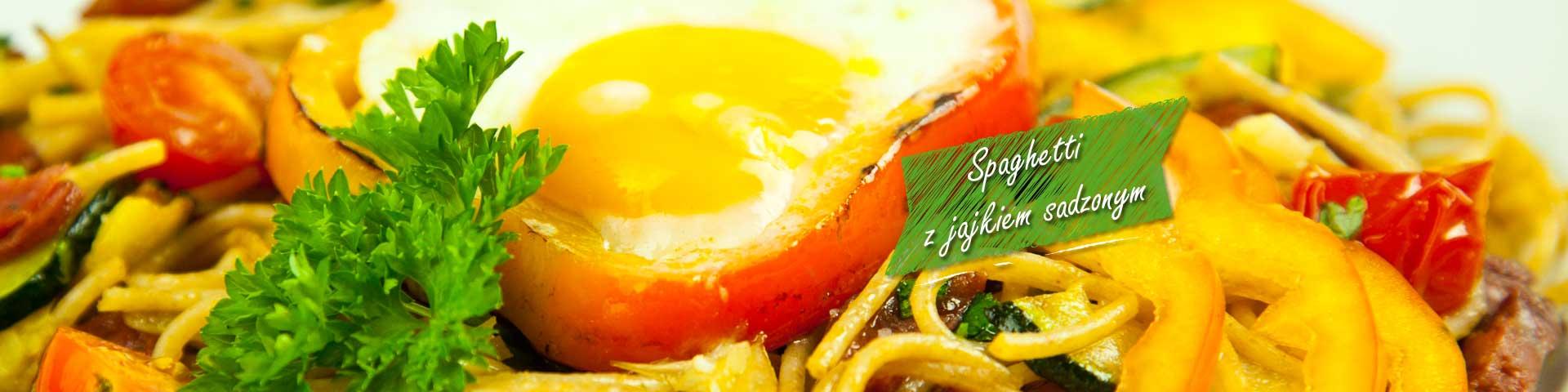 Spaghetti z jajkiem sadzonym