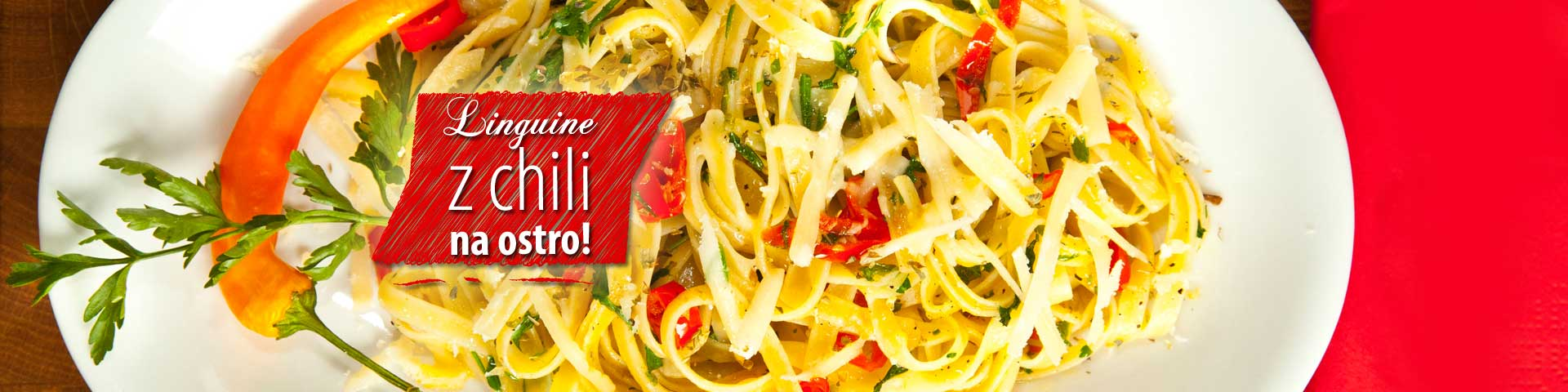 Linguine with spicy chilli