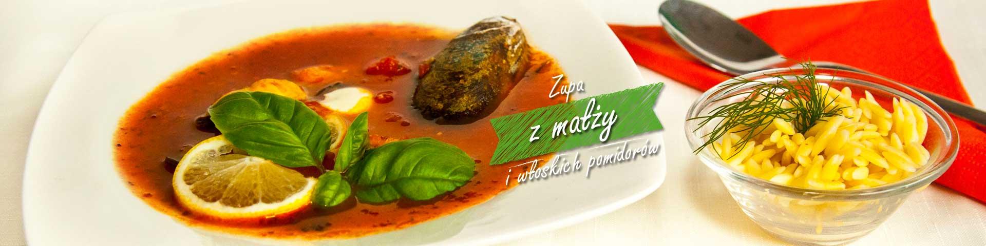 Zupa z małży i włoskich pomidorów